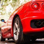 Ad personam evento Maranello, vista posteriore di una Ferrari