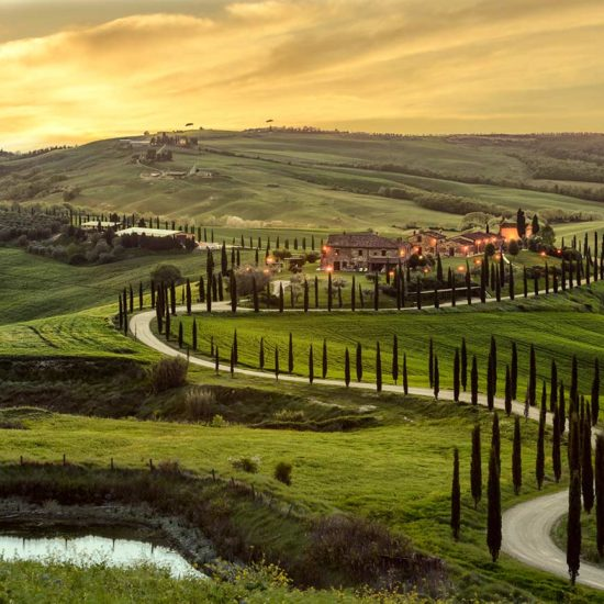 Ad Personam itinerari Toscana, panorama delle colline Senesi